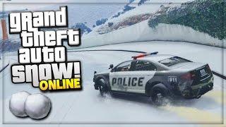 GTA 5 SNOW MOD ONLINE! (GTA 5 PC MODS GAMEPLAY)