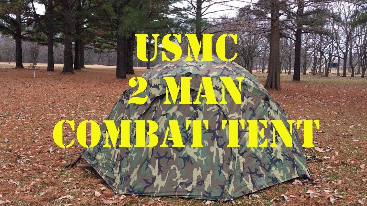 USMC 2 Man Combat Tent & USMC 2 Man Combat Tent - YouTube