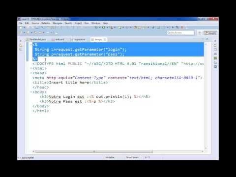 J2EE Servlet JSP Eclipse Tomcat7, Eclipse Travel Video