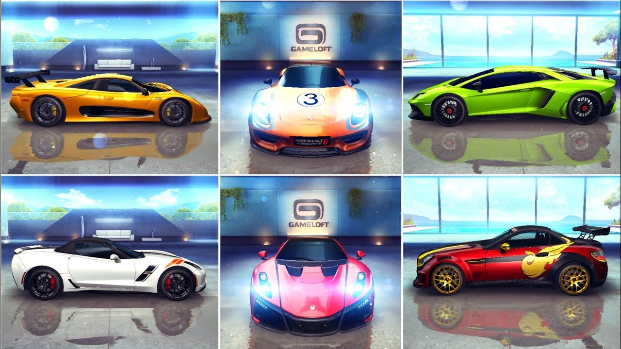 asphalt 8 elite cars show with porsche 918 spyder youtube. Black Bedroom Furniture Sets. Home Design Ideas