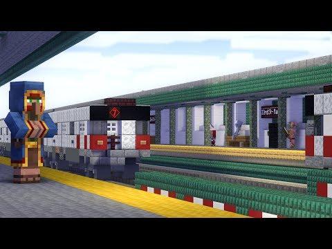 Minecraft NYC 7 Train Subway 33rd St Animation