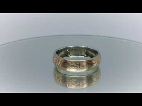 One of HARMONiC Silver and copper Mokume Gane ring.