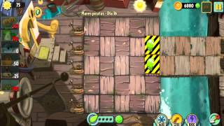 Plants vs Zombies 2 Mares Piratas Dia 15,16,17
