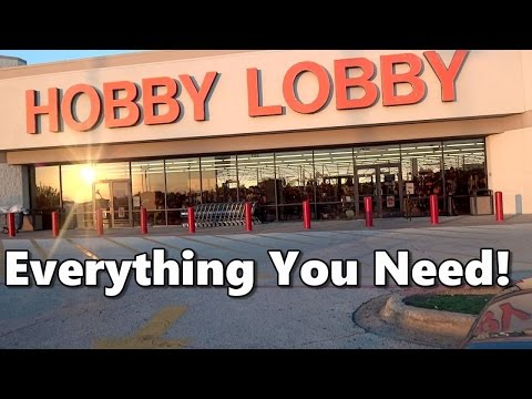 Shopping For Art Supplies At Hobby Lobby For Under $50!