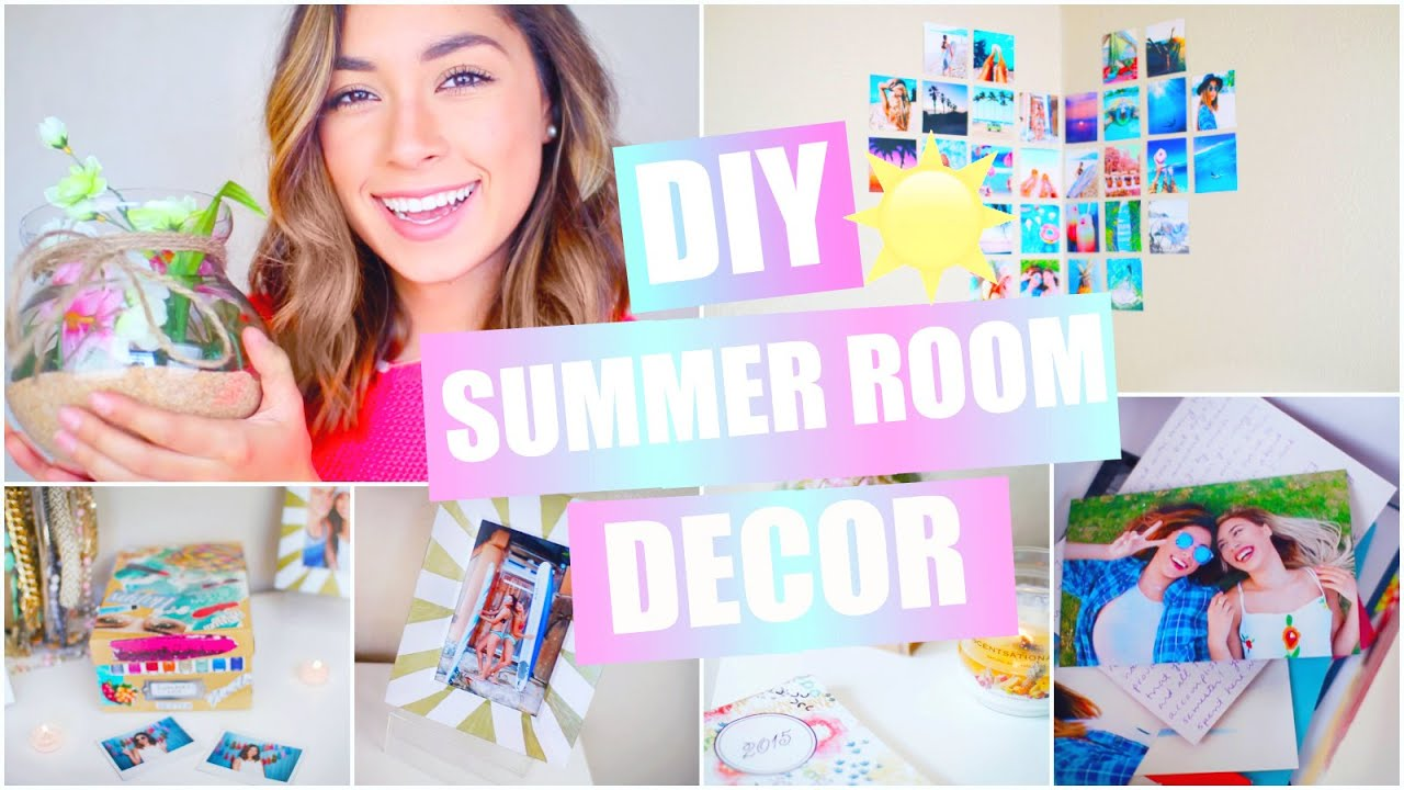 diy summer room decor pinterest tumblr inspired youtube. Black Bedroom Furniture Sets. Home Design Ideas