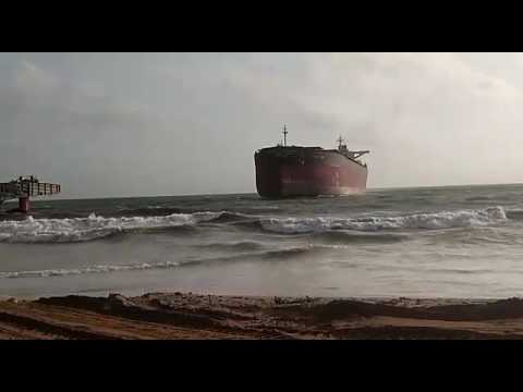 Ship anchored in Gaddani ship breaking yard
