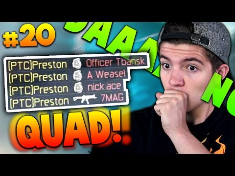 MY FIRST QUAD-FEED!! | Preston to Commander #20 (Black Ops 3)