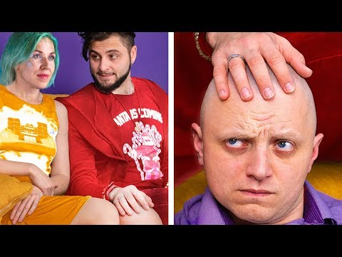 Bald Men vs Men with Hair / Funny Hair Problems and Life Hacks