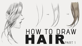 How to draw hair (voice part 1 - sketch)