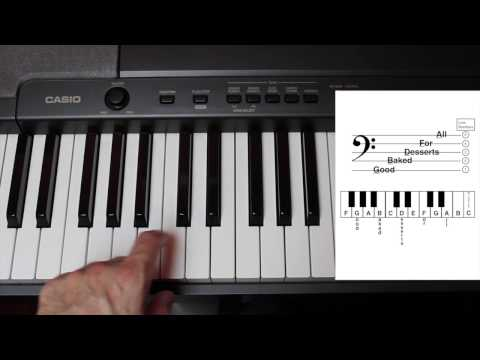 Piano Scales Book: Video Lesson 7: Bass Clef on the Piano