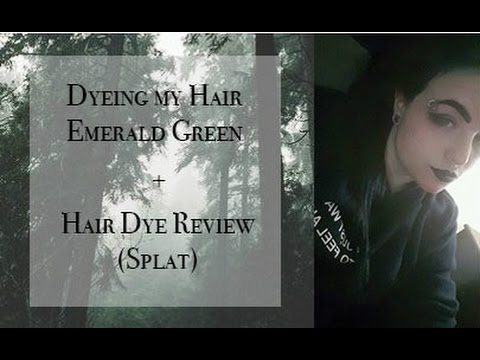 Dyeing My Hair Emerald Green Hair Dye Review Youtube