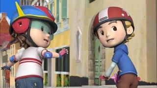 Робокар Поли - Правила Дорожного Движения - Где можно кататься на роликах и скейтборде (мультфильм 1