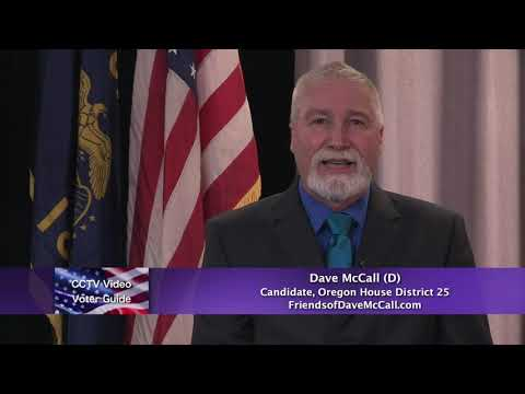 David McCall (D) candidate, Oregon House District 25