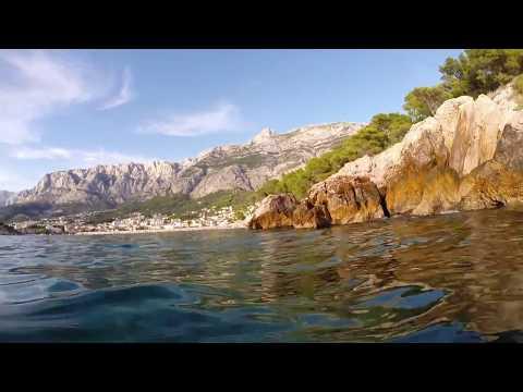 Makarska (view from the sea), Croatia | GoPro (1080p HD)