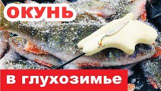 ЭТА БЛЕСНА КОСИТ РЫБУ Ловлю окуня зимой на блесну Январь Глухозимье Зимняя рыбалка на блесну
