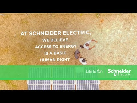 At Schneider Electric we believe access to energy is a basic human right