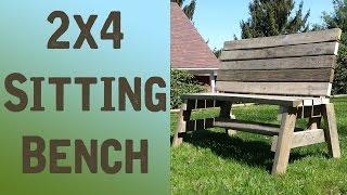 2x4 Sitting Bench POV (Jay Bates plans!) - ShieldsCraft