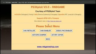 PS3Xploit Miniweb Offline HAN + HFW