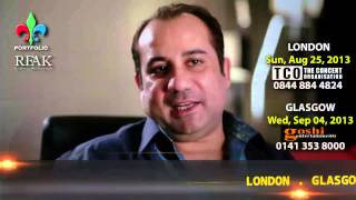 "Ustad Rahat Fateh Ali Khan 2013 UK ""Voice from Heaven Tour"" Promo by PME"