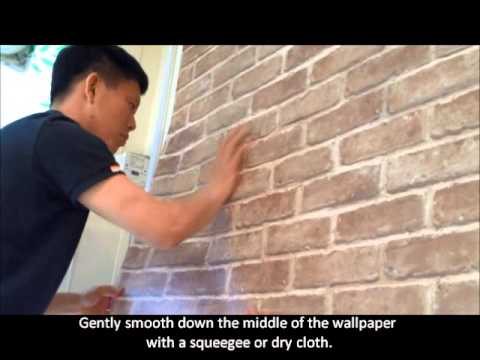 3d Brick Wallpaper Uk Decowall How To Apply Sticky Back Wallpaper Youtube