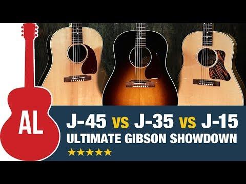 J-45 Vs J-35 Vs J-15 - Ultimate Slope Shoulder Gibson Comparison