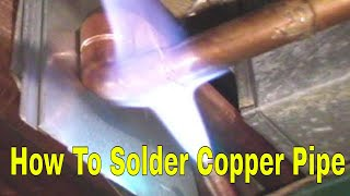 How To Solder Copper Pipe And Repipe Home Part 4 Of 14 In Hd