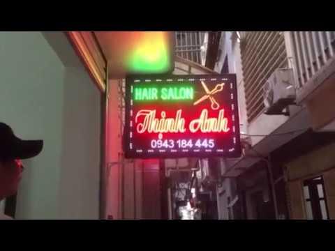 Biển vẫy quảng cáo đèn led Hair Salon siêu sáng