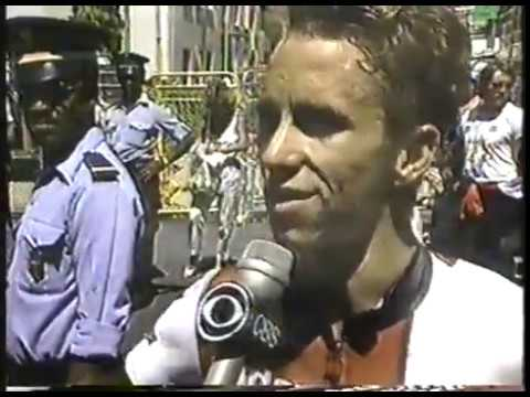 Cycling - 1986 - Tour Du France - USA Greg LeMond Upsets 5 Time Champ Bernard Hinault