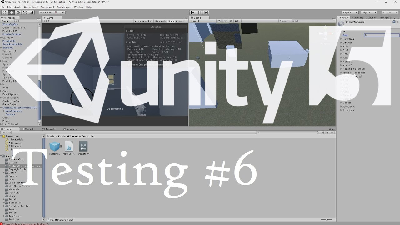 Unity Input Manager & Removing the Unity Launcher Tutorial | Unity 5  Testing # 6