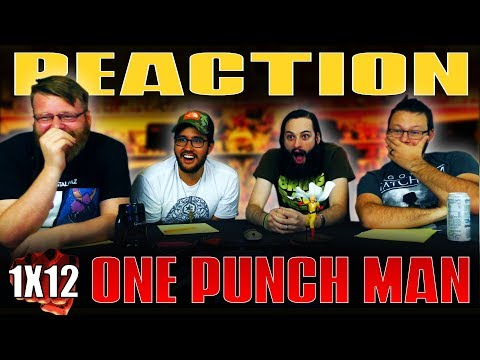 """One Punch Man 1x12 FINALE REACTION!! """"The Strongest Hero"""""""