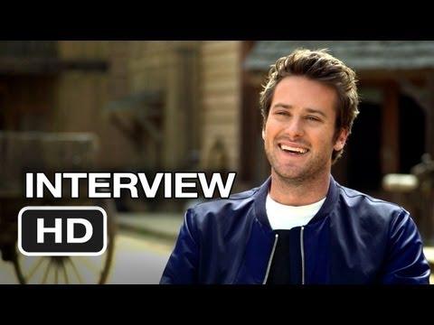 The Lone Ranger Interview - Armie Hammer (2013) - Johnny Depp, Armie Hammer Western HD