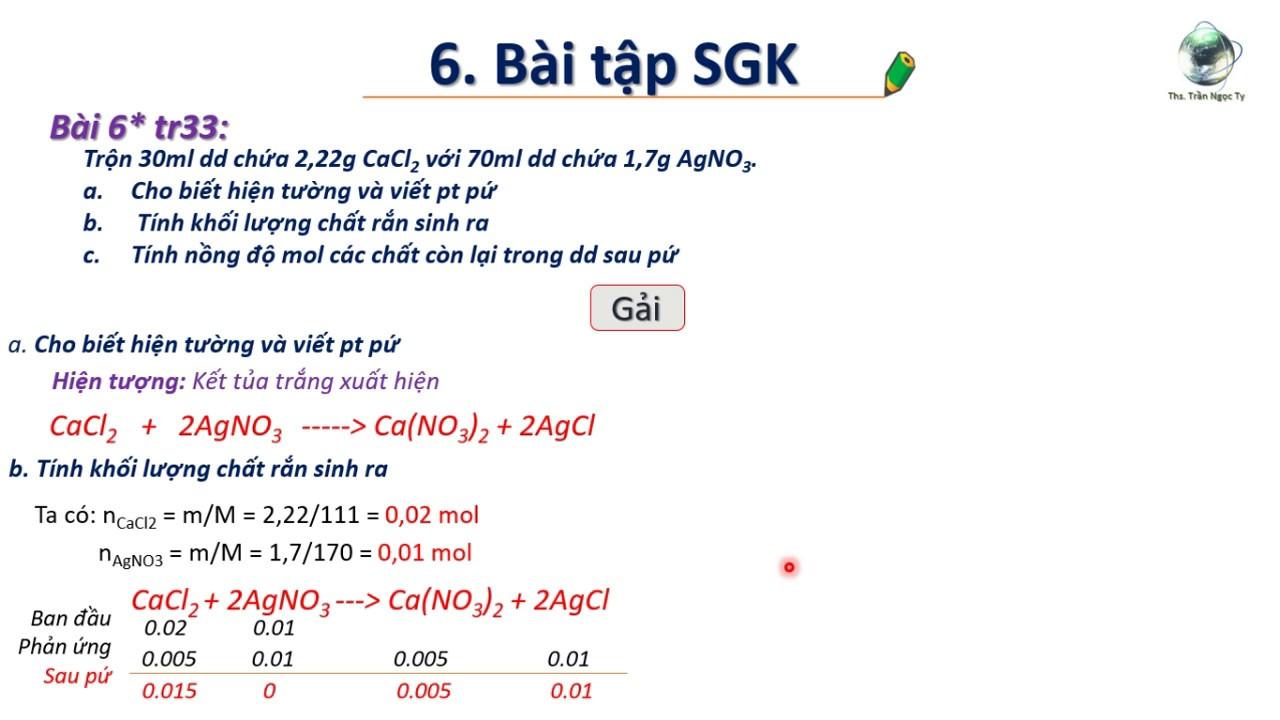 ✔ Hóa9| Giải nhanh bài 6 trang 33 sgk hóa 9