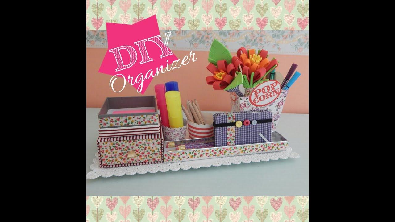 organizer da scrivania fai da te collaborazione con delya