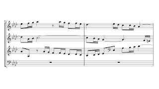 J.S. Bach, The Well-Tempered Clavier, Book I, Fugue No  12 in F minor, BWV 857 - Four voices