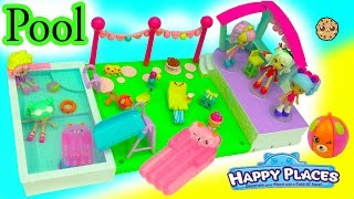 Shoppies + Season 7 Shopkins Swimming At Petkins Happy Places Home Pool Party