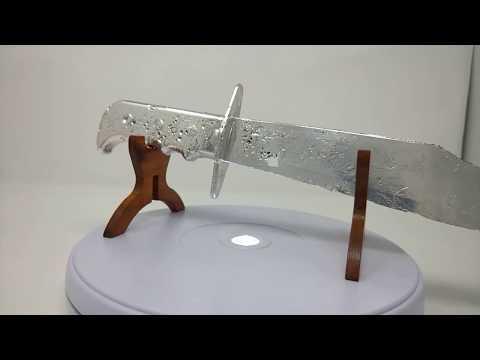 Silver.Life Full 3D Silver Bullion 15 inch Bowie Knife .999 Fine Silver