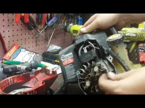 how a four stroke weed eater works