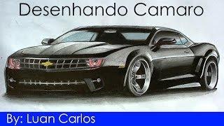 Desenhando um Camaro por Luan Carlos - Desenho realista