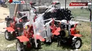 रामेछापका किसानहरुलाई अनुदानमा कृषि औजार उपकरणहरु वितरण - NEWS24 TV