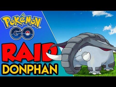 SOLANDO RAID DE DONPHAN  - Pokémon Go   Derrotando Raid Boss (Parte 24) thumbnail