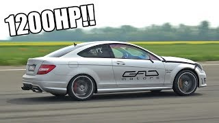 1200HP GAD Motors Mercedes-Benz C63 AMG Coupe 0-300 Km/h