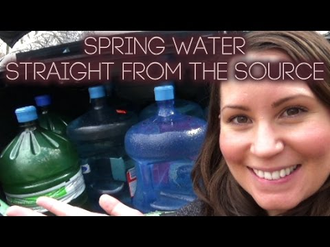 COLLECTING SPRING WATER - Pure, Natural, Wild Canadian Water