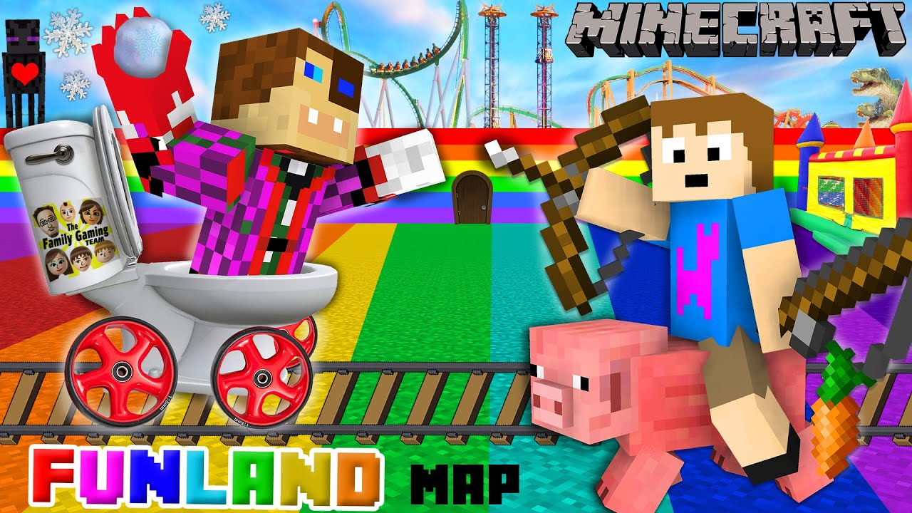 Duddy Chase Go To FUNLAND Minecraft Amusement Park Map - Map of us amusement parks