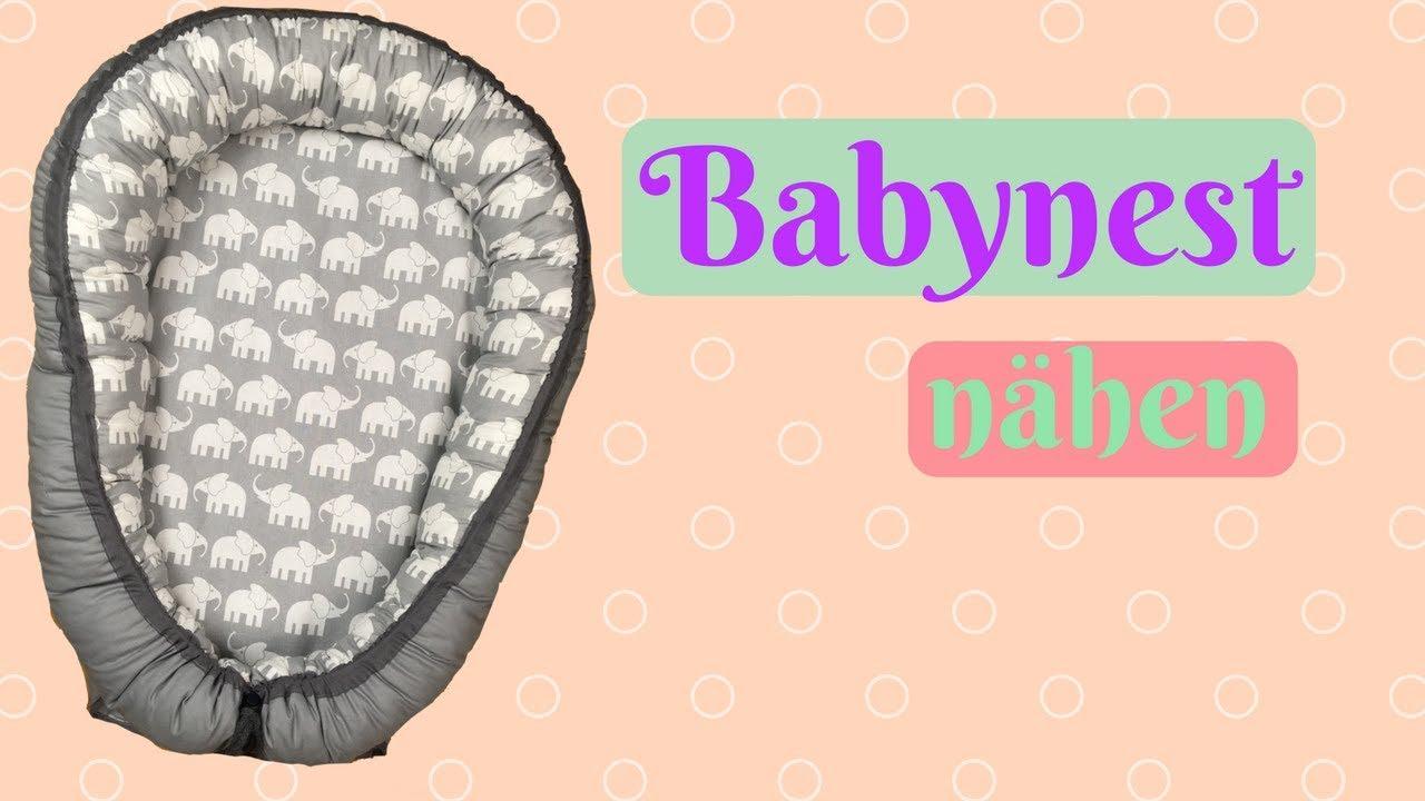 Babynest/Nestchen nähen- Nähanleitung für Anfänger - YouTube