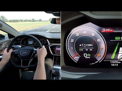 Audi A6/A7 Mild Hybrid 48V real-life test (55 TFSI) :: [1001cars]