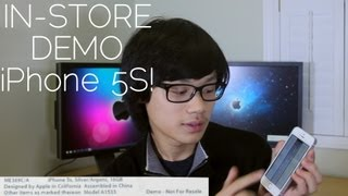 iPhone 5s In-Store Demo Version! Unboxing, Review and Comparison!
