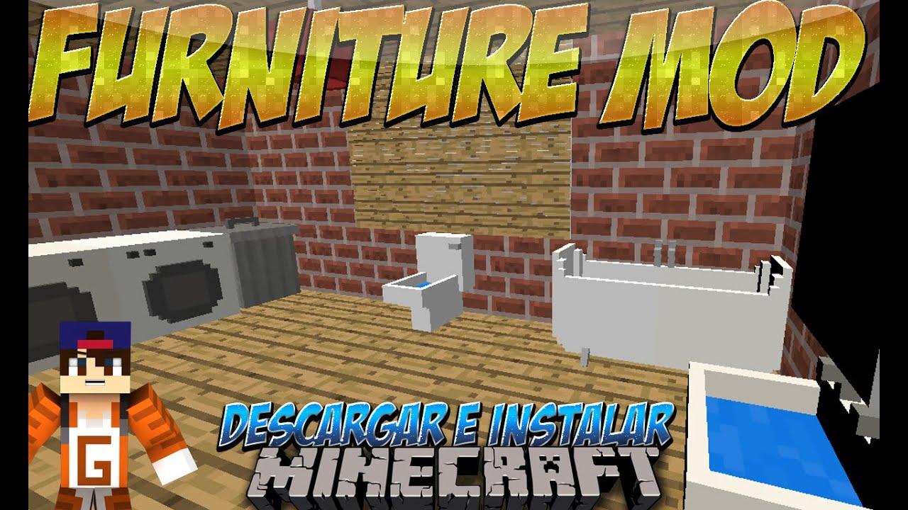 Minecraft 1.8.8/1.8/1.7.10/1.7.2 , Descargar e Instalar Furniture Mod  (Jammy Furniture)