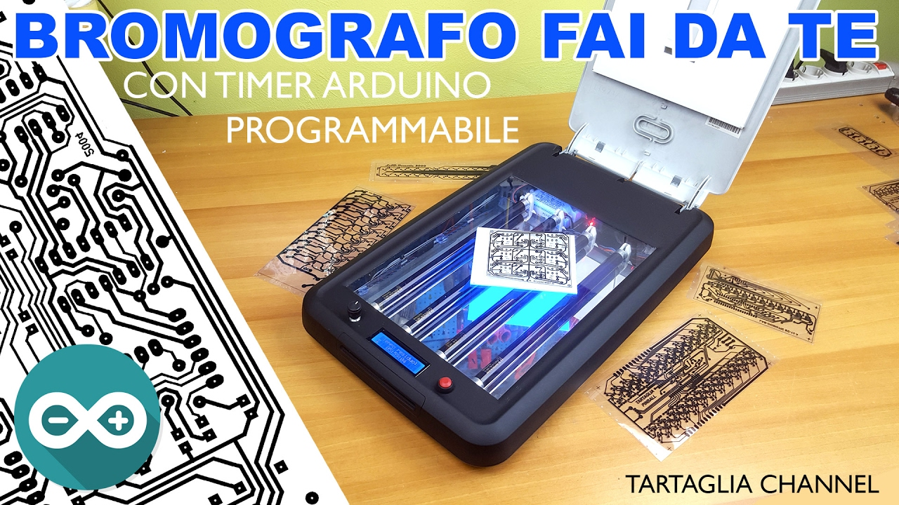 Bromografo fai da te con timer count down arduino tutorial tartaglia channel youtube for Fontana giardino fai da te