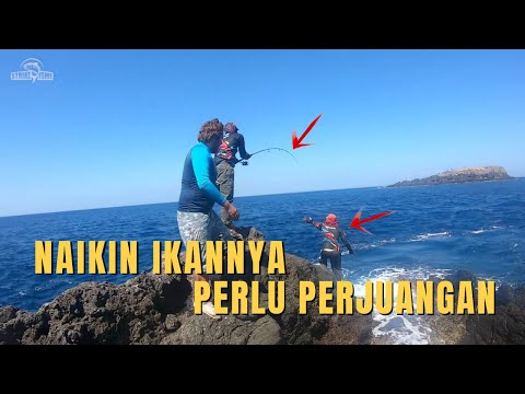 AKHIRNYA MAEN SHORE JIGGING LAGI | Land Based Fishing Bali - Shore Jigging Bali