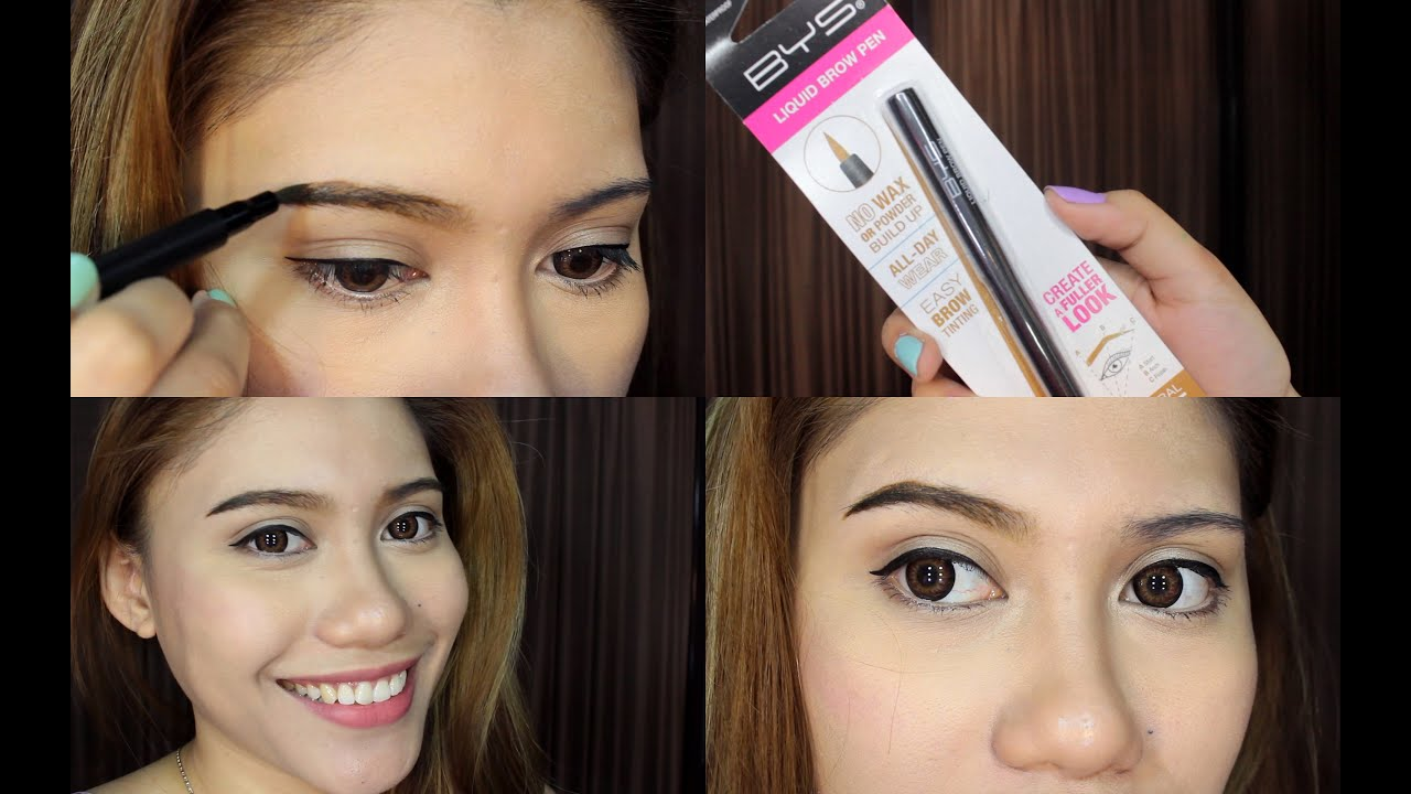 Bys Liquid Brow Pen Review Purpleheiress Youtube